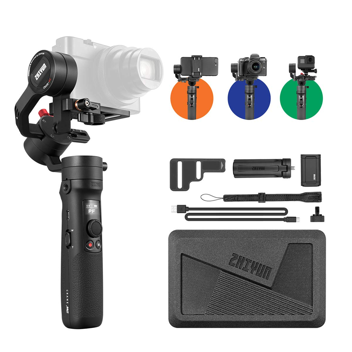 Zhiyun Crane-M2 [Official] Handheld 3-Axis Gimbal Stabilizer by zhi yun