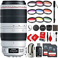 Canon EF 100-400mm f/4.5-5.6L IS II USM Lens Kit with 9 Piece Graduated Color Filters, 67 Tripod and Bundle