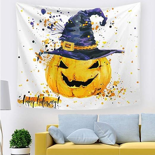 xkjymx Tapiz de Halloween 211703 100 * 70 cm Delgado: Amazon.es: Hogar