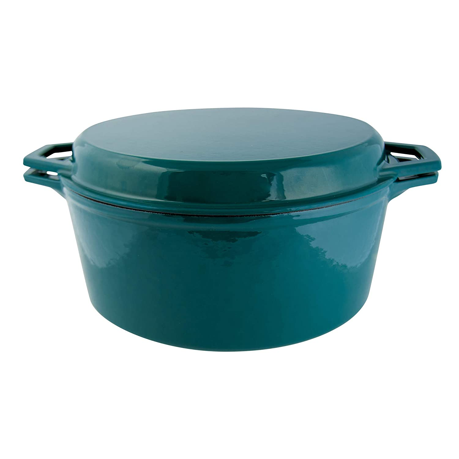 Taste of Home 7-quart Enameled Cast Iron Dutch Oven with Grill Lid