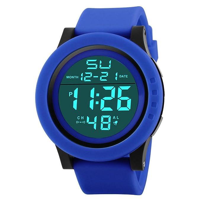 Amazon.com: Ikevan HONHX Digital Sports Watch--Fashion Mens LED Waterproof Digital Quartz Military Luxury Sport Date Watches (Black): Watches
