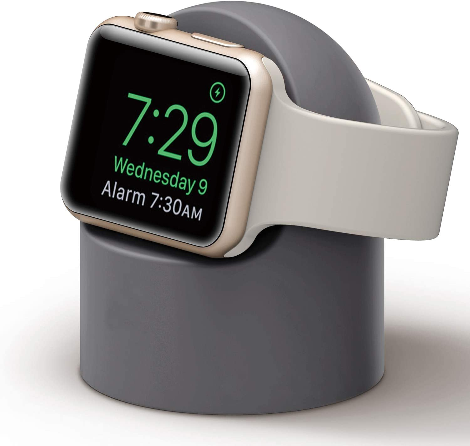 PROATL iWatch Charging Stand with Nightstand Mode, Silicone Charger Dock Holder for Apple Watch Series SE/6/5/4/3/2/1(44/42/40/38mm)【Adapters OR Cables NOT Included】(Grey)