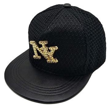 YYXXX Gorras béisbol Gorra de béisbol Tide Brand Metal NY Fashion para Hombre y Mujer a