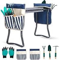 LYKO's Portable Garden Kneeler and Seat+2 Tool Bag-Gardening Bench W/ Free Garden Accessories Outdoor Tools Kit-Comfy…