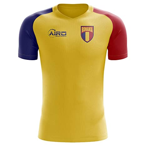 3774e5778 Image Unavailable. Image not available for. Color  Airo Sportswear 2018-2019  Romania Home Concept Football Soccer T-Shirt Jersey (Kids
