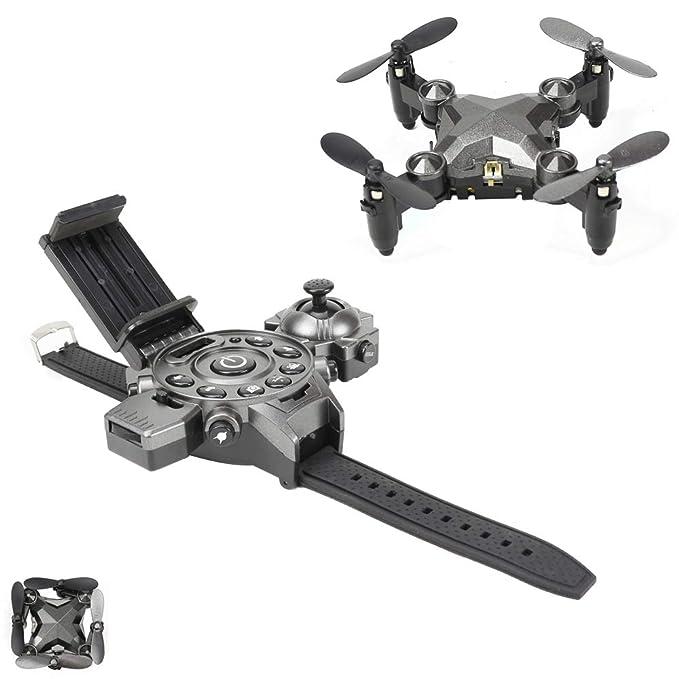 NBKLS Drone, Reloj de avión Mini Plegable portátil de Control ...
