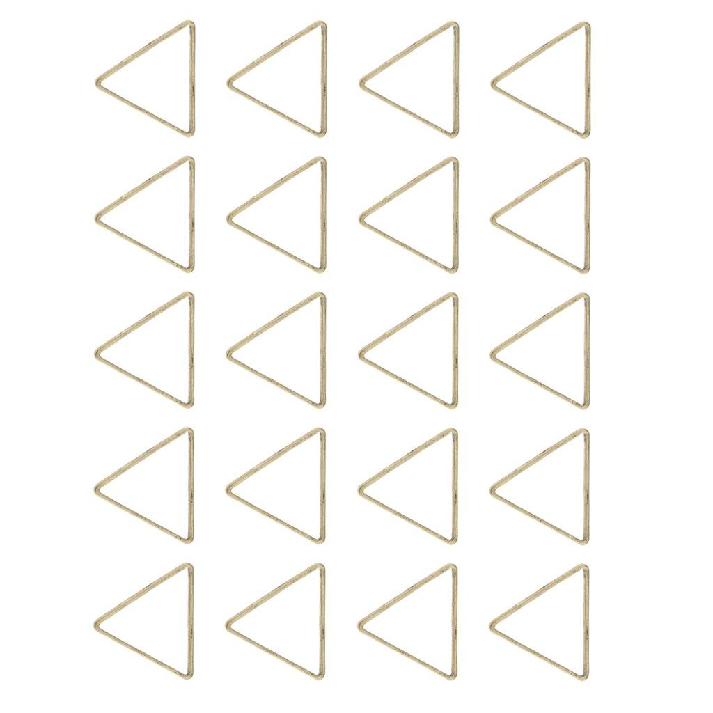 MagiDeal 20pcs Legierungs Dreieck Ring Anhänger Charme Für Schmucksachen