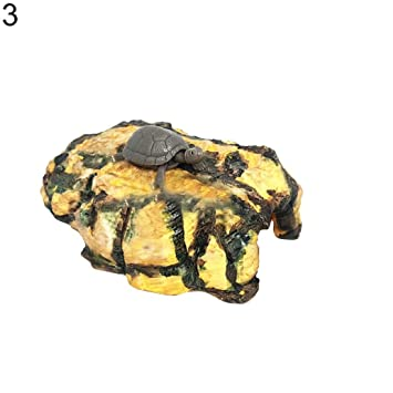 Pengyu Figura decorativa de resina para acuario con diseño de tortuga repelente de peces: Amazon.es: Productos para mascotas