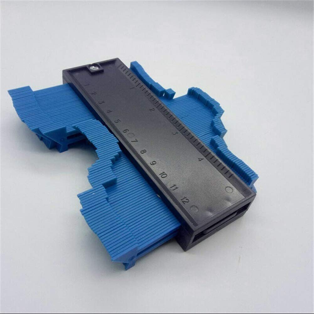 Universal 5 Inch Plastic Irregular Contour Gauge Duplicator light blue