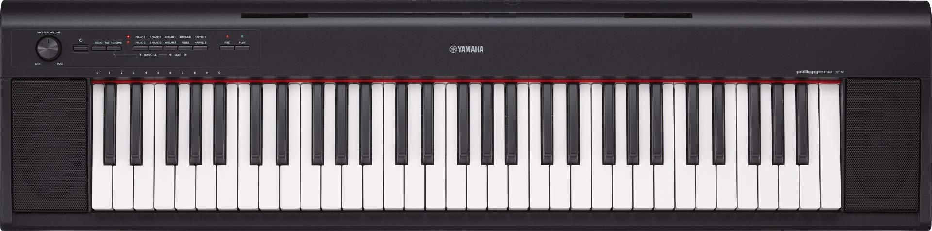 Yamaha NP-12 61-Key Entry-Level Digital Piano Keyboard W/Keyboard Survival Kit & Keyboard Stand & Bench by Yamaha (Image #2)