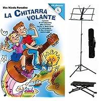 La Chitarra Volante Vol.1 + CD, Poggiapiede per Chitarrista, Leggio richiudibile con Borsa.