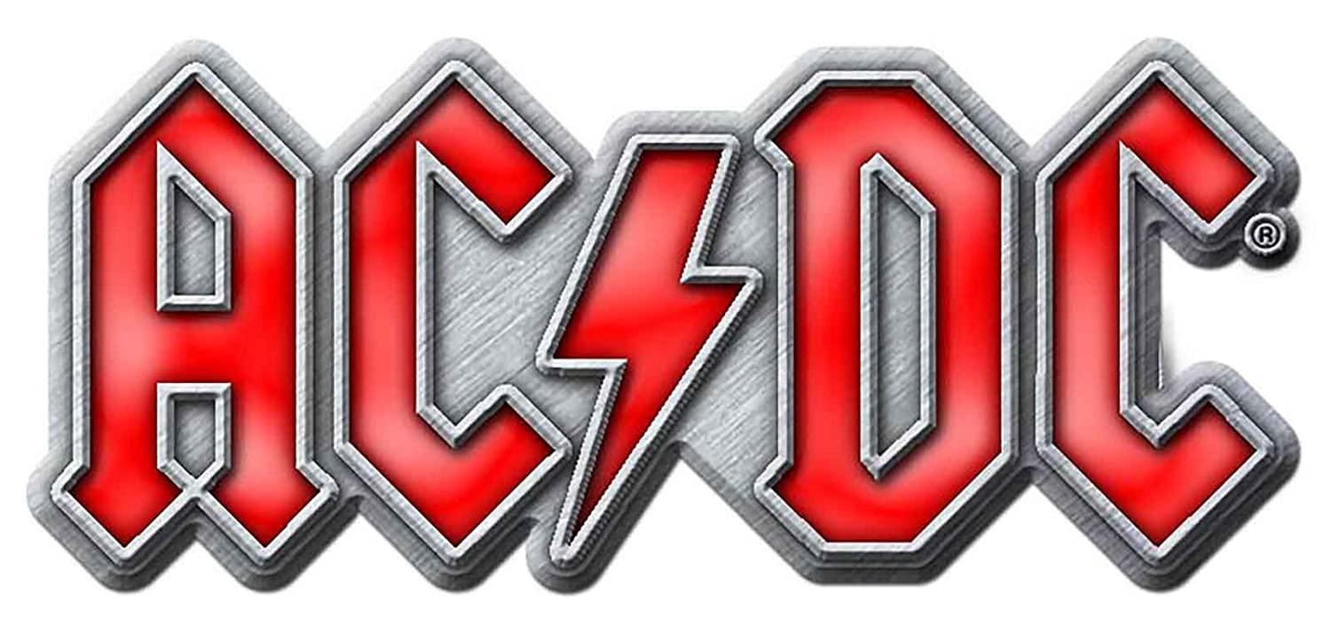 AC/DC Pin Badge classic Red Band Logo new Official Metal Lapel