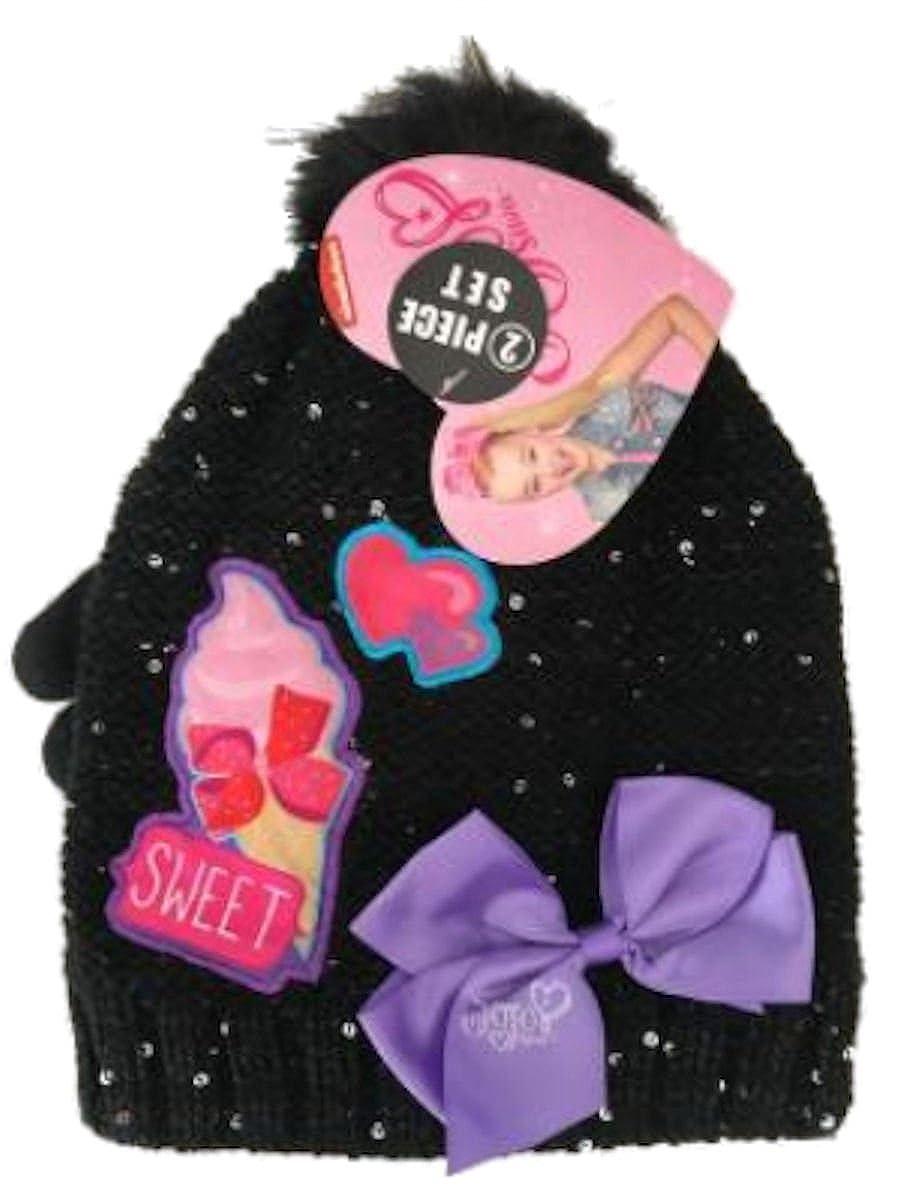 JoJo Kids  Gloves And Beanie Set  Cute JoJo Siwa Accessories For Girls 7245e3975408