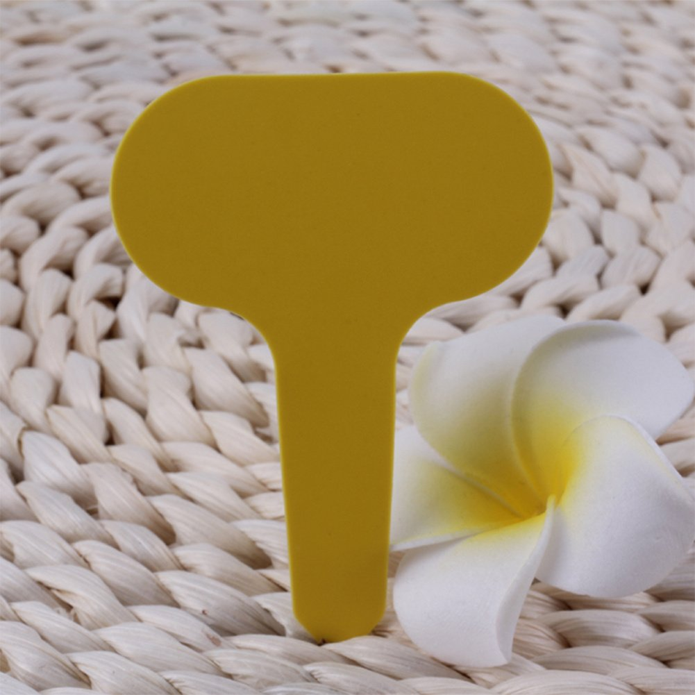 styleinside 100pcs Yellow Plastic Waterproof Plant Gardening Garden Label Tag by styleinside® (Image #3)