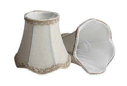 2 Pcs Splink Shabby Chic pantallas de lámpara Vintage Con Aplique Cortina de lámpara de mesilla de noche Techo Colgante, L¨¢mpara de Mesa 75 * 130 * ...