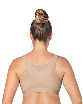 ebd93149ea0 Leonisa Back Support Posture Corrector Wireless Bra Adjustable Front  Closure Beige