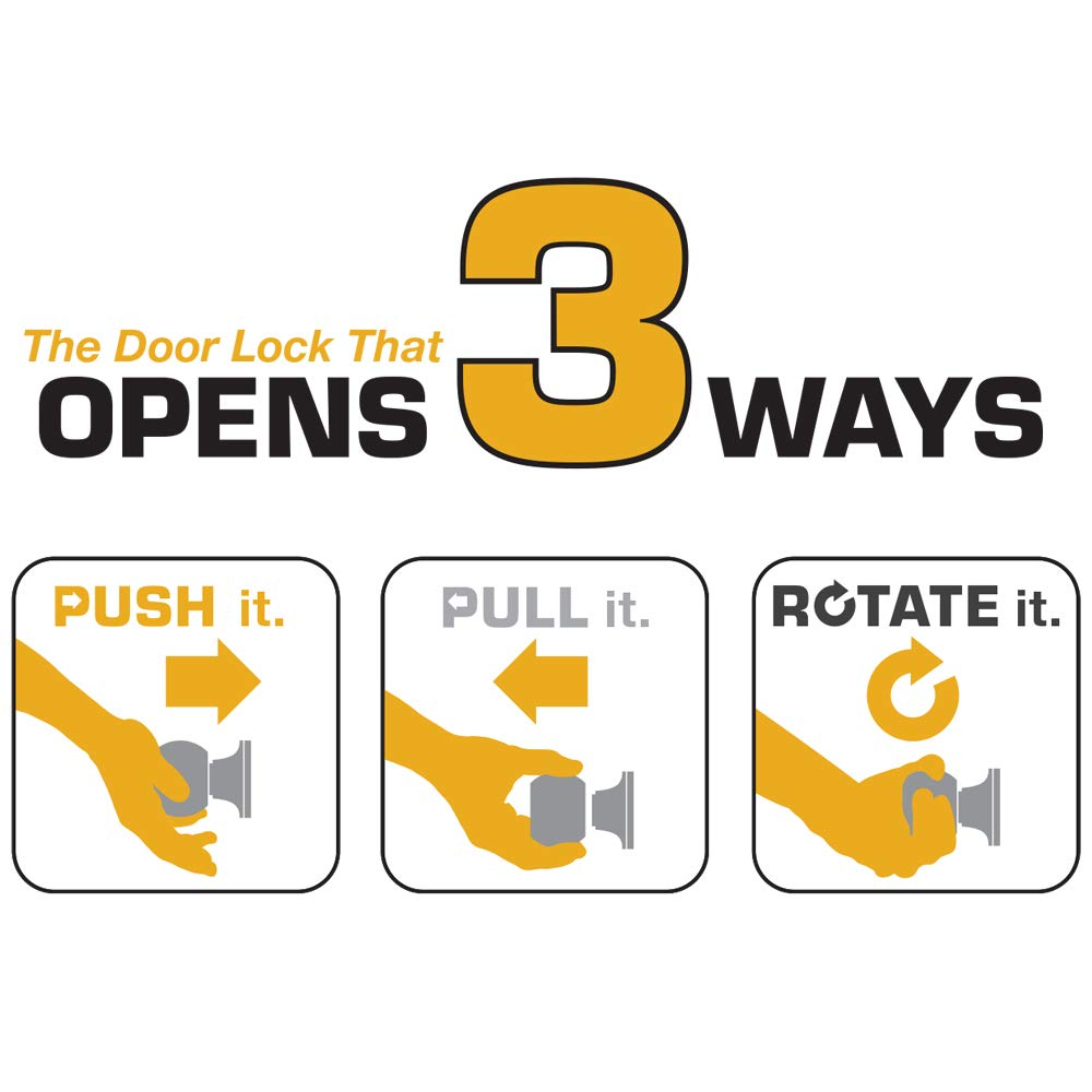 Satin Nickel Brinks Push Pull Rotate Door Locks Alwood Passage Hall//Closet Lever 23052-119 Hampton Products