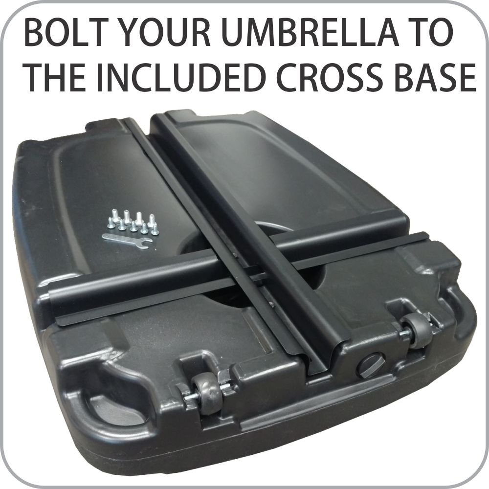 Amazon.com : EasyGoProducts Universal Offset Umbrella Base Weight Capacity    Plastic Weighted Stand   Fill With Water Or Sand, Black, 60 L : Patio, ...