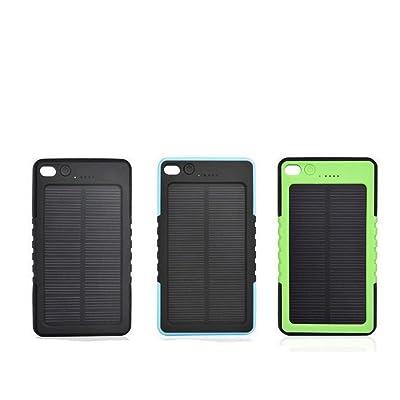 Étanche solaire 8000mAh Power Bank Batterie USB avec lampe de poche LED Mousqueton
