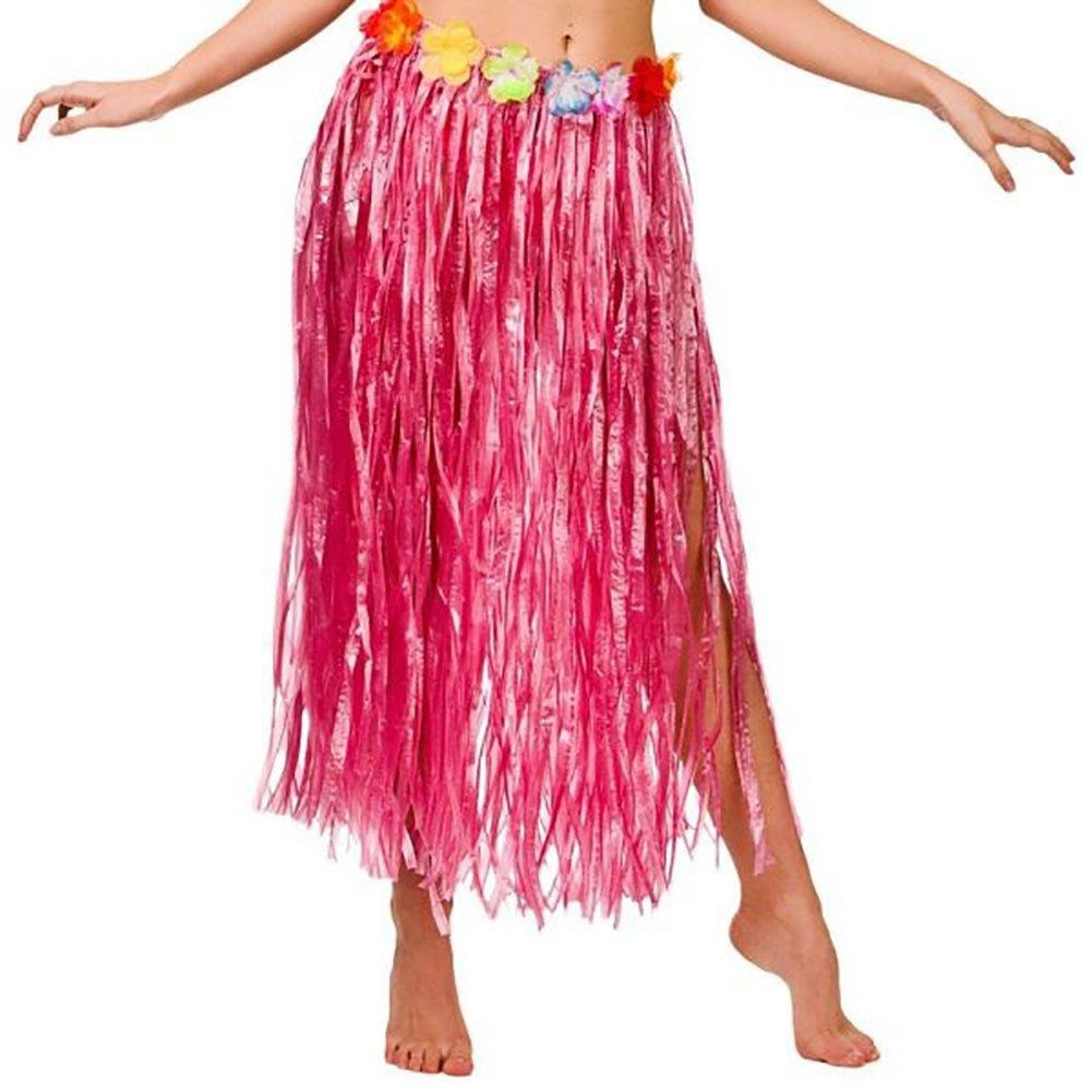 Hawaiian Hula Grass Flower Party Dress Skirt Beach Dance Adult Fancy Dress Costume Gaweb