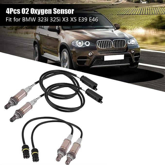 For BMW 323i 325i X3 X5 E39 E46 O2 Oxygen Sensor Upstream /& Downstream 4Pcs