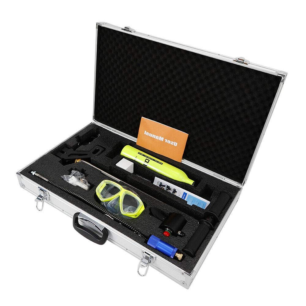 WANLECY Submersible System, Diving Equipment Mini Air Spare Case Set with Oxygen Cylinder Pump Glasses Transfer for Professional by WANLECY