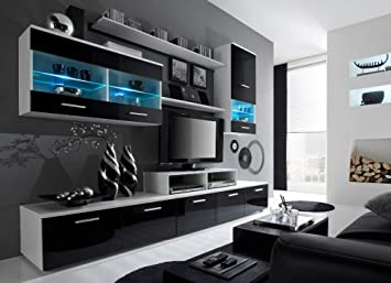 Paris Contemporary Design Wall Unit Modern Entertainment Center Unique With LED