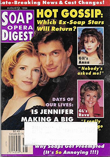 Melissa Reeves & Jason Brooks (Days of Our Lives) l Finola Hughes l Kim Zimmer - August 2, 1994 Soap Opera Digest