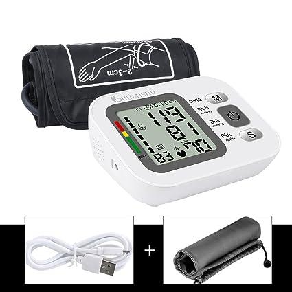 Tensiómetro de Brazo Digital con Funda para Guardar Medidor Tension Arterial y Función de Memoria(