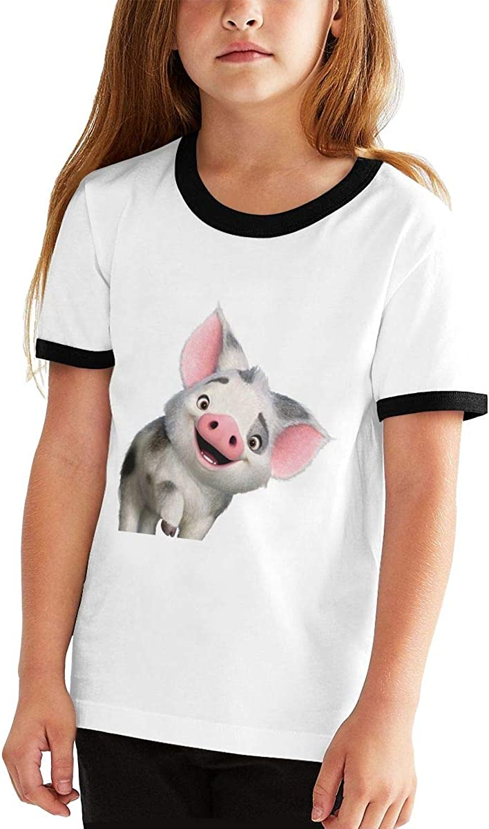 Kids Or Little Boys and Girls Richard Moana Pua The Pot Bellied Pig Logo Unisex Childrens Short Sleeve T-Shirt