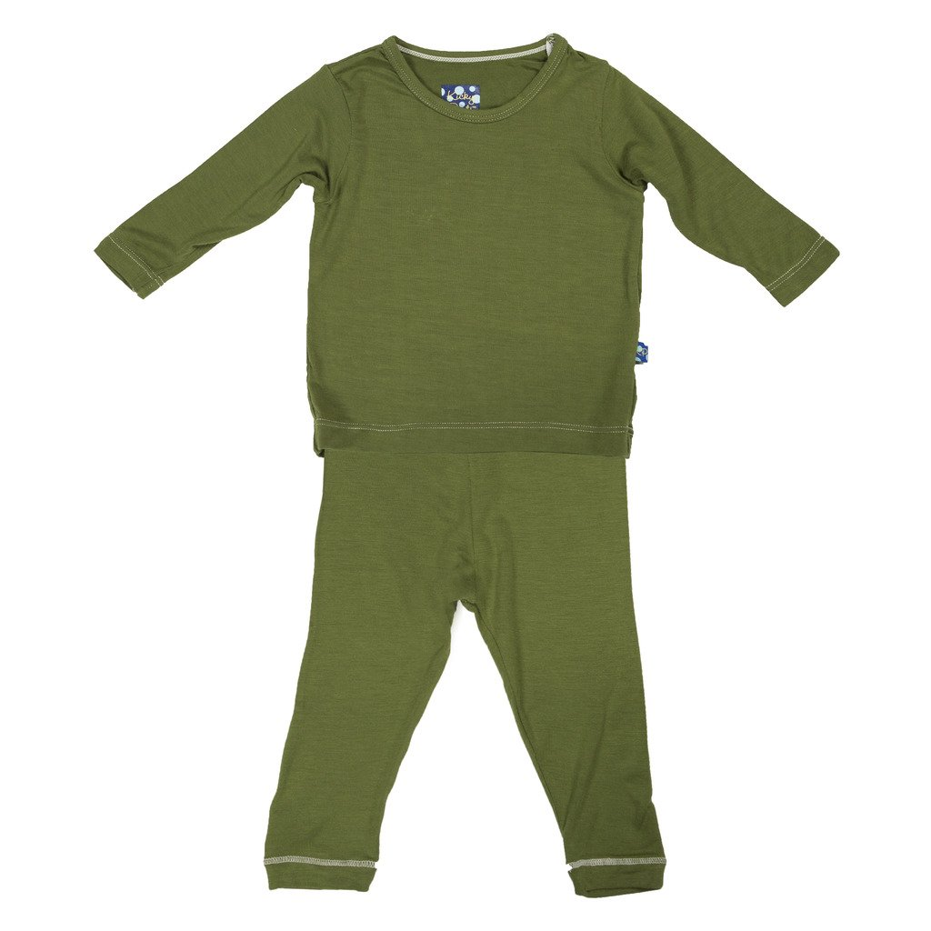 7d4fed0d5 Galleon - KicKee Pants Long Sleeve 2 Piece Pajama Set
