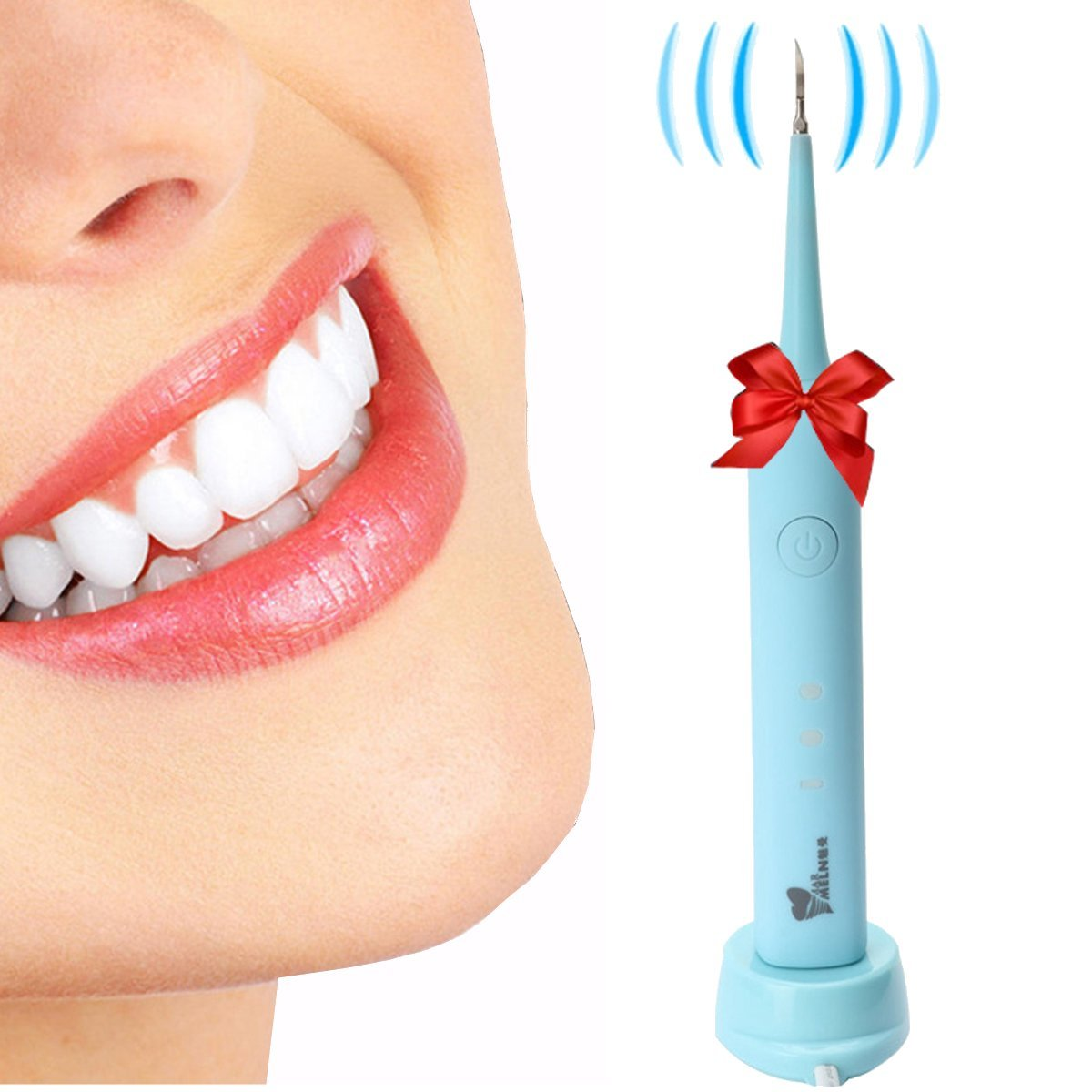 Teeth Stain Removal, Y.F.M Electric Dental Calculus Remover Tooth Stains Tools 3 Modes Portable & Cordless Ideal for Kids and Braces Dentist Recommended