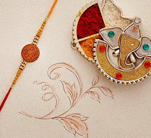 Designer Rakhi Thread for Brother Bhaiya Traditional Rakshabandhan Rakhee Bracelet (Design 2) by Eximious India