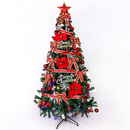 Amazon Com Zfgg Artificial Christmas Tree With Metal Bracket 1 8m