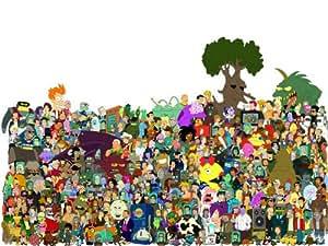 D7560 All Futurama Characters TV Show 32x24 Print POSTER