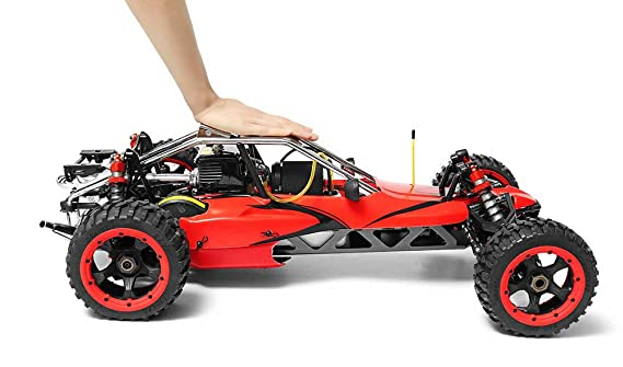 MODELTRONIC Coche RC Buggy 1:5 Rovan Sport 305A Pro 30,5CC emisora Fly Sky GT3C Rojo clon HPI Baja Velocidad hasta 70 Km/h./ Coche Gasolina Real: Amazon.es: ...