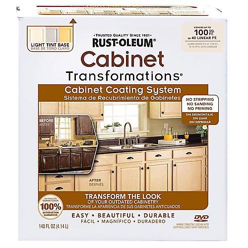 Rustoleum Light Tint Small Kitchen Cabinet Transformation