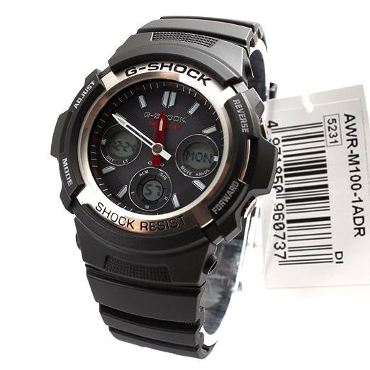 Casio Hombre awr-m100 - 1 A G-Shock Analog Digital Negro Tough Solar Reloj Deportivo Hombres: CASIO G-SHOCK: Amazon.es: Relojes