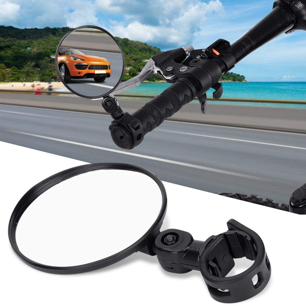 Alomejor Bike Rear Mirror Bicycle Cycling Rear View Mirrors Adjustable Rotatable Handlebar Mounted Plastic Mirror for Mountain Road Bike