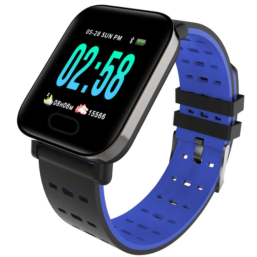 1.3-inch Touch Screen Smart Bracelet, Calorie Counter Ip67 Waterproof Smart Watch for Android and iPhone-Blue by YANGYA