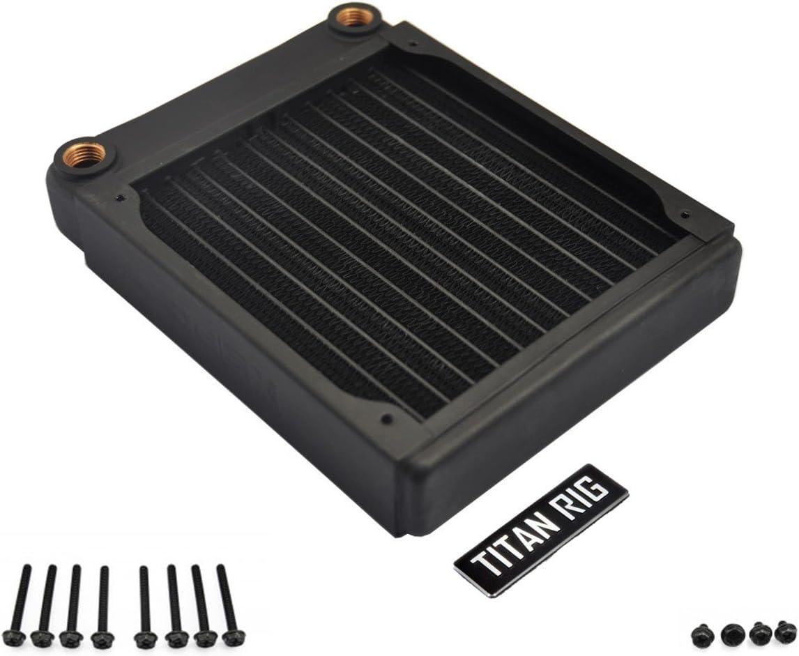 XSPC EX120 Radiator with Push/Pull Screw Set, 120mm x 1, Single Fan, Black