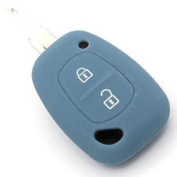 Finest-Folia Coque en silicone Pour cl/é de voiture /à 3/boutons Noir