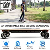 NEJA Self-Balancing Skateboard, Electric Skateboard, 32'' Electric Longboard - Motorized Skateboard with LED Light, NO REMOTE NEED