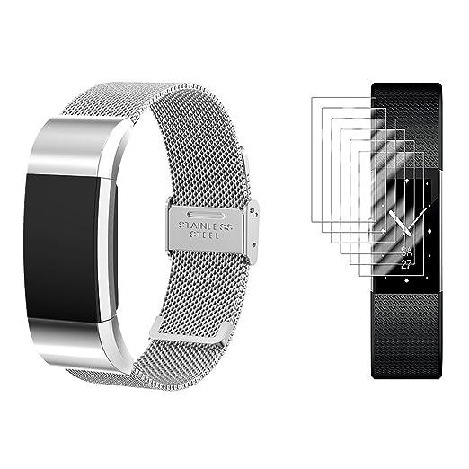 2 opinioni per Fitbit Charge 2 Band con protezioni dello schermo, TUSITA® sostituzione banda