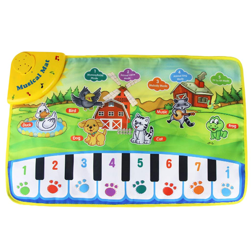 SM SunniMix Durable Piano Mat Electronic Music Carpet Touch Play Blanket, Perfect for Kids 2 to 5 Year Olds Dance & Learn (22x14 inch) by SM SunniMix (Image #5)