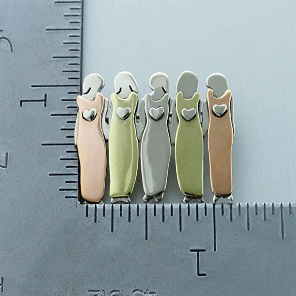 FENICAL Sisters Brooch Cute Sisters Badge Lapel Pin Best Friends Brooch Breastpin for Purse Sweater Five Sisters
