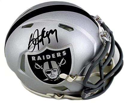 d6038f16 Amazon.com: Bo Jackson Signed Helmet - Oakland Riddell Mini Speed ...