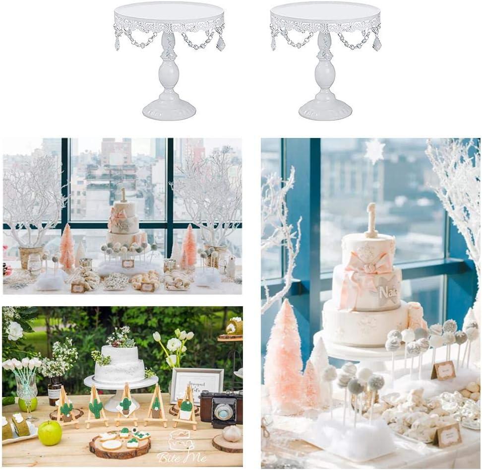 Torre per Cupcake decaden Alzata per Torta,Alzata per Torta in Cristallo Festa Rotonda in Metallo Piatto per Matrimonio Decorazione per Dessert