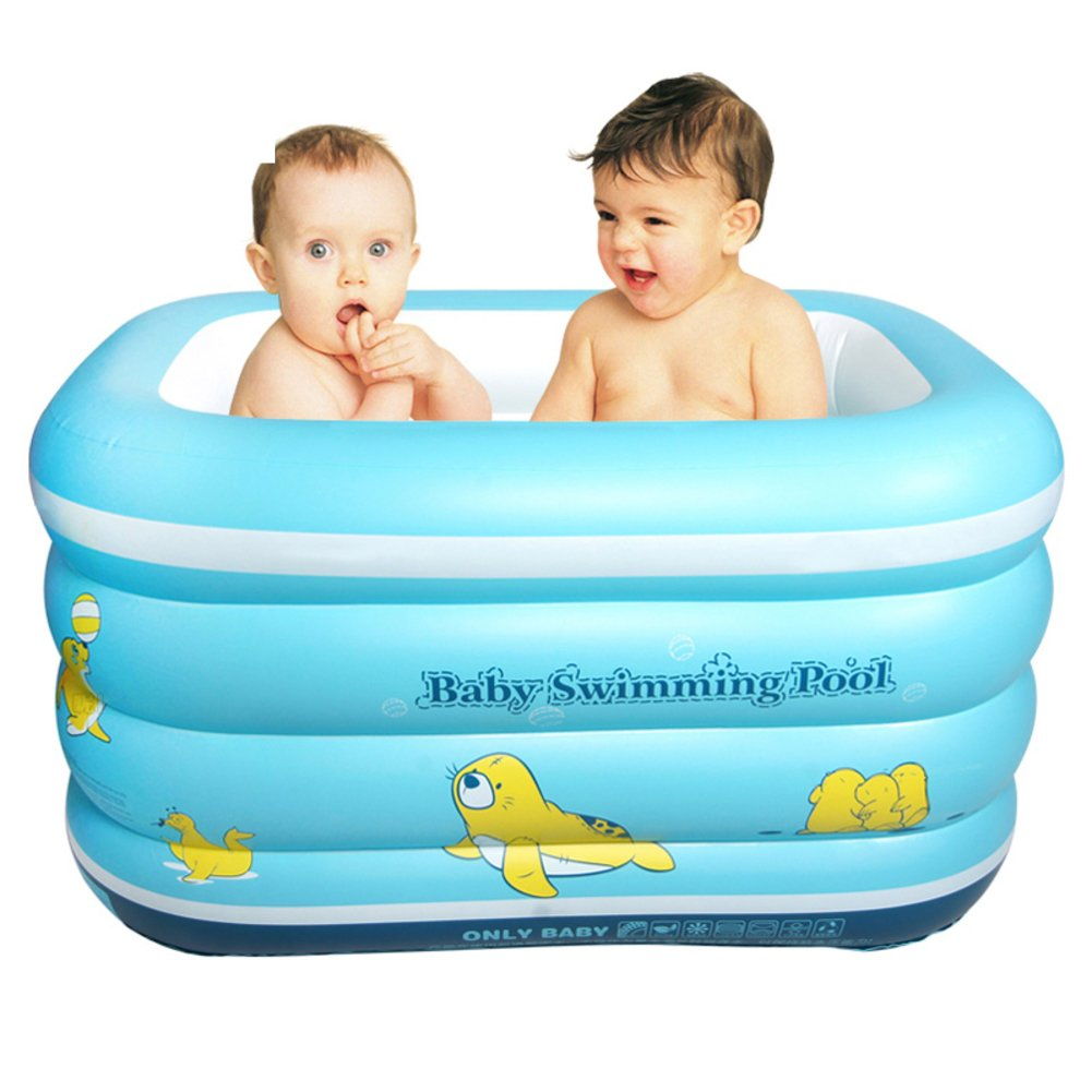 Extra großes Kinderbecken/Verdickung Luft Thermalbad/Babyschale Schwimmbad-A