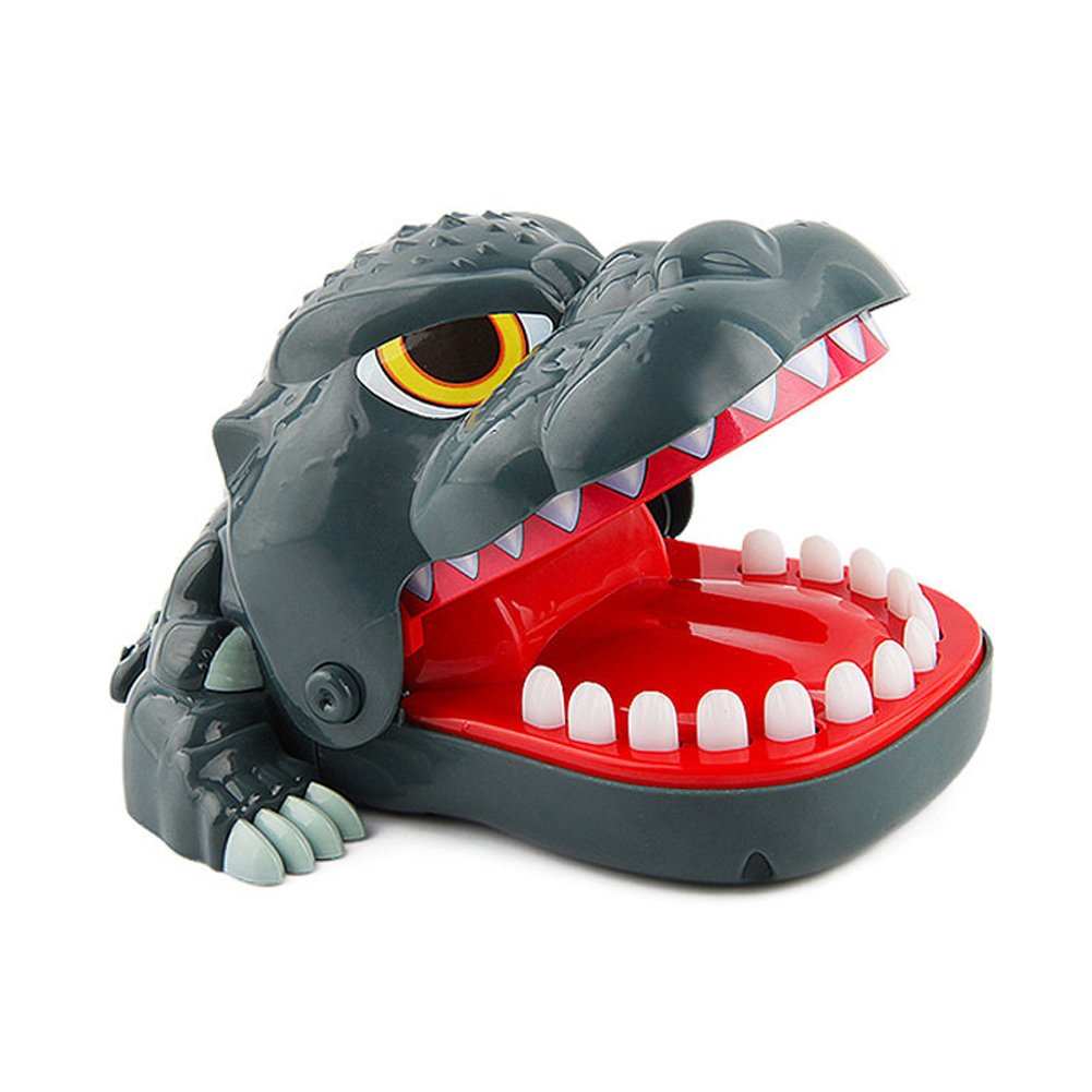 Oun Nana Dentist - Dinosaur bite Finger Game for Kids - 1 to 4 Players - Ages 4 and up, Black, 7.1 x 6.5 x 3.7 inches
